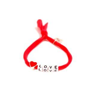 """""""červený náramok love"""""""