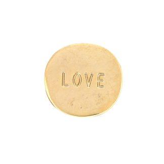 """""""prívesok zlatý kruh s nápisom love"""""""