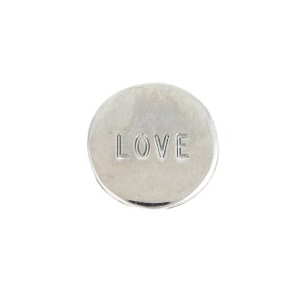"""""""prívesok strieborný kruh s nápisom love"""""""