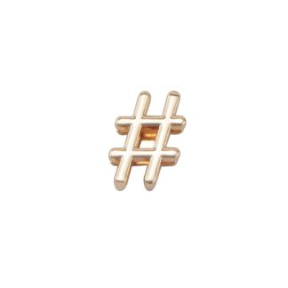 """""""zlatý prívesok hashtag"""""""