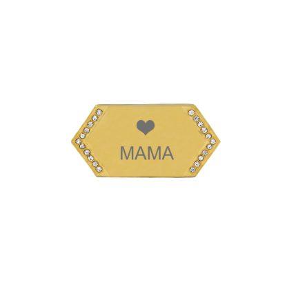 zlatá platnička s kamienkami - mama