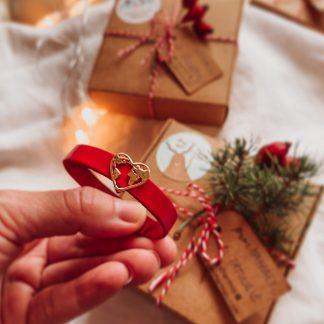 kožený náramok Vianoce
